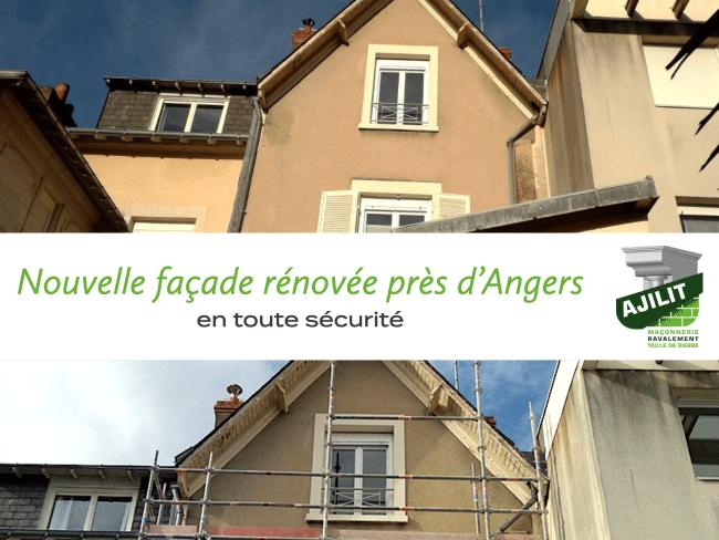ajilit ravalement façade renovée securité angers
